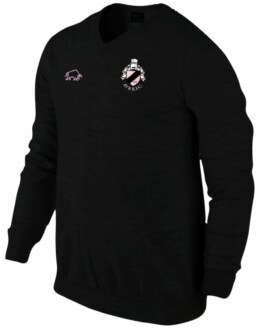 Ayr RFC black lambswool sweater with embroidered logo